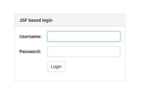 JSF based login