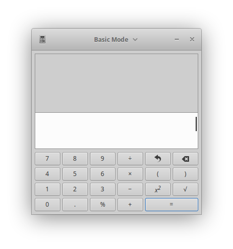 calculator started via a JSF ViewState